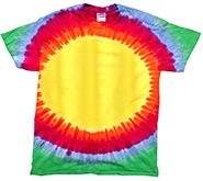 Wholesale - Tie Dye T Shirts - SUNBURST RAINBOW