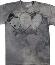 Wholesale Graphic Fashion Clothing Apparel - The Three Stooges Tie-Dye T-Shirt