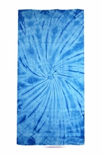 Tie Dye Beach Towels Wholesale - SPIDER BABY BLUE