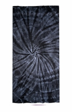 Tie Dye Beach Towels Wholesale - SPIDER BLACK