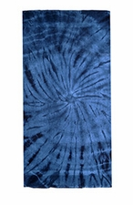 Tie Dye Beach Towels Wholesale - SPIDER NAVY