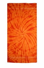 Tie Dye Beach Towels Wholesale - SPIDER ORANGE