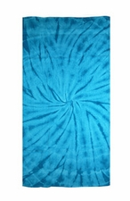 Tie Dye Beach Towels Wholesale - SPIDER TURQ