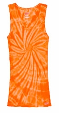 Tie Dye Tank Tops For Juniors Wholesale Suppliers - SPIDER ORANGE