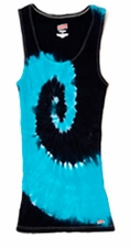 Tie Dye Tank Tops For Juniors Wholesale Suppliers - SPIRAL TURQ  NAVY