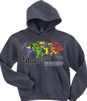 Wholesale Graphic Fashion Clothing Apparel - Trippy Bears Grey Hoodie