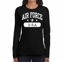 Wholesale, Air Force USA T-Shirts, Military T Shirts, Wholesale T-Shirts - USA Air Force 22317 long sleeve black