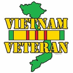 Wholesale Custom Printed Military Patriotic T Shirts - Vietnam Veteran Service Ribbon a9451h