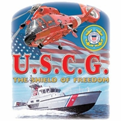 Screen Printed Coast Guard T Shirts Wholesale Bulk Suppliers - a12418a