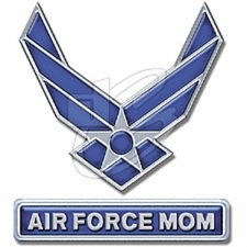 Bulk Wholesale T Shirts Military - Air Force~Mom Emblem T Shirts - A8532D