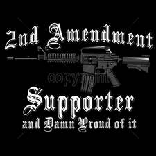 Wholesale Clothing Apparel - Gun T Shirts - 16209-12x9-2nd-amendment-support