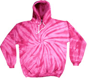 Wholesale Tie Dye Hooded Sweatshirts - SPIDER PINK