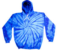 Wholesale Tie Dye Hooded Sweatshirts - SPIDER ROYAL