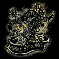 Wholesale Patriotic American Shirts -Wholesale Apparel - Military T-Shirts - 12x13-united-states-army-army-strong-eagle-banner