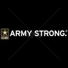 Wholesale Apparel - Military T-Shirts - 12x2-army-strong-army-star-horizontal