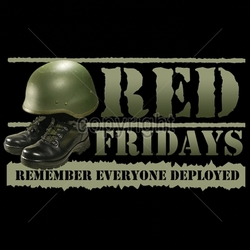 Wholesale Military Patriotic T Shirts Bulk - red-fridays-remember-everyone-deployed T Shirts Bulk - 12x7