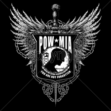 Wholesale Apparel - Military T-Shirts - 13441-14x16-pow-emblem-wings-you-are-not-forgotten