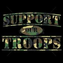 Wholesale Tees Apparel - Military Patriotic T Shirts - 13x8-support-our-troops