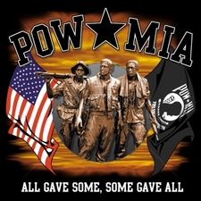 Wholesale Apparel - Military T-Shirts - 16192-13x12-pow-mia-all-gave-some-some-gave-all-vietnam-soldiers