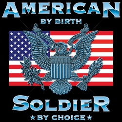Patriotic American Shirts -Wholesale Apparel - Military T-Shirts - 17721-12x12-american-birth-soldier-choice
