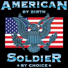 Wholesale Apparel - Military T-Shirts - 17721-12x12-american-birth-soldier-choice
