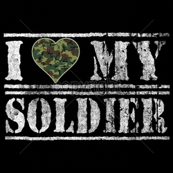Patriotic American Shirts -Wholesale Apparel - Military T-Shirts - 17909-9x6-i-heart-my-soldier