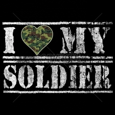 Wholesale Apparel - Military T-Shirts - 17909-9x6-i-heart-my-soldier