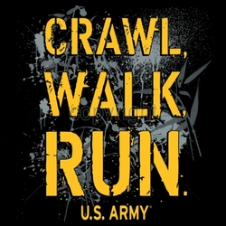 Military T Shirts, Army Wholesale Bulk Suppliers - MSC Distributors - 18040-12x13-crawl-walk-run-us-army