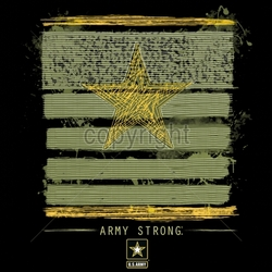 Wholesale Apparel - Military T-Shirts - 18041-12x13-army-strong-rank-patch