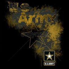 Wholesale Apparel - Military T-Shirts - 18044-12x13-us-army-stars-and-logo