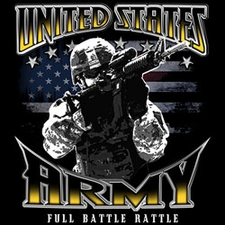Wholesale Apparel - Military T-Shirts - US ARMY FULL BATTLE RATTLE - 19916D1