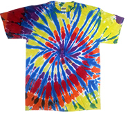 Wholesale T Shirts, Tie Dye - KALEIDOSCOPE