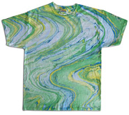 Wholesale Tie Dye T Shirts Suppliers - MARBLE LIME