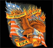 Wholesale Clothing Biker T-Shirts - S105 the strong survive usa