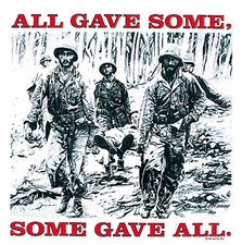 Bulk T Shirts Military Fashion - Wholesale - Military T Shirts - 17548 All Gave Some Gave All