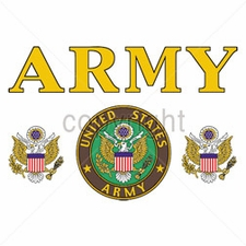 Bulk T Shirts Military Fashion - W11462-13 Army yellow letters