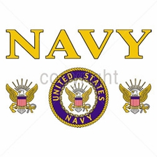 Military T Shirts - W11463-13 Navy yellow letters