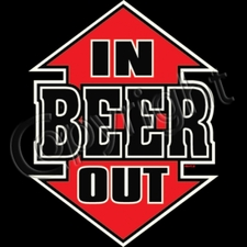 Wholesale Custom Printed T Shirts, Beer Funny - 11253-In BEER Out