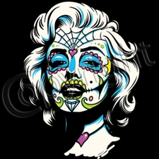 Wholesale Bulk Products T Shirts Clothing Wholesalers - 12147-SugarSkullMarilyn