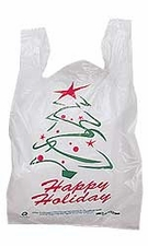 Wholesale Bulk Store Supply Wholesaler Retail - Medium White Holiday Thank You Bag