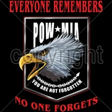 Bulk T Shirts Military Fashion - Wholesale - Military T Shirts - 13157-12x14-pow-mia-eagle