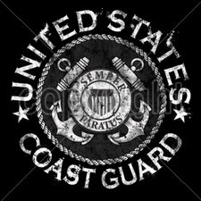 Bulk T Shirts Military Fashion - Wholesale - Military T Shirts - 13621-11x11-united-states-coast-guard-emblem