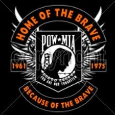 Bulk T Shirts Military Fashion -13x13-pow-mia-home-brave-because-brave-1961-1975