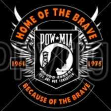 Wholesale Apparel - Military T-Shirts - 16193-13x13-pow-mia-home-brave-because-brave-1961-1975