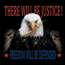 Wholesale Apparel - Military T-Shirts - 9626-11x13-there-will-be-justice - Patriotic Eagle USA
