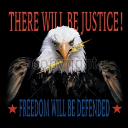 Wholesale Military Patriotic T Shirts Bulk - Patriotic Eagle USA T Shirts Bulk - 9626-11x13-there-will-be-justice