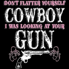 Wholesale Clothing Apparel - Gun T Shirts - 18338E2-2 Funny Cowboy