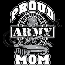 Proud Army Mom Military T Shirts Wholesale - 10264
