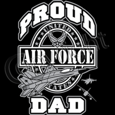 Proud Air Force Dad T Shirts Wholesale - 10269