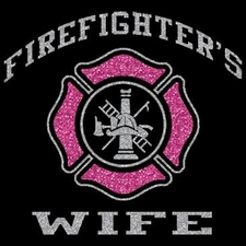 Wholesale Clothing Apparel Fashion Custom T-Shirts Supplier Bulk - Firefighters Wife Glitter a10300f